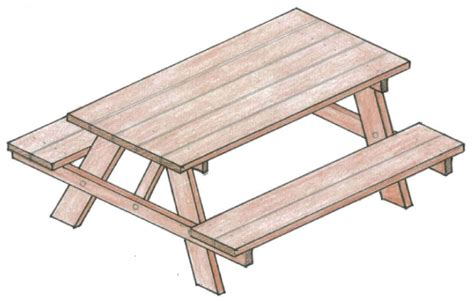 how to draw a picnic table picnic table designs