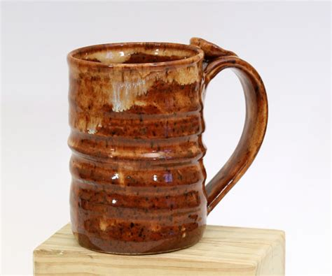 Rustic Coffee Mugs | coffee mug rustic fall colors handmade by laurenbauschoriginal