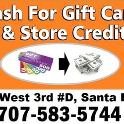 Cash For Gift Cards Santa Rosa - cash for gift cards cheque cashing pay day loans 320 w 3rd st santa rosa ca