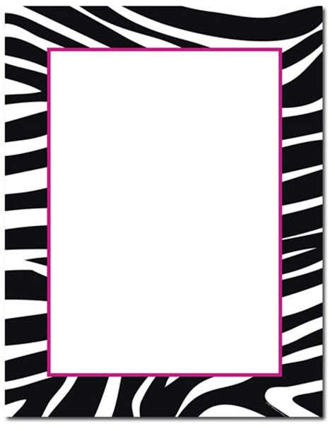 free printable zebra print paper free zebra border cliparts co