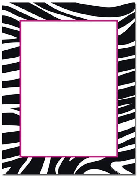 printable zebra border paper zebra page border cliparts co