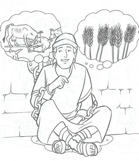 coloring pages joseph and pharaoh the joseph and baker dreams coloring page coloring pages