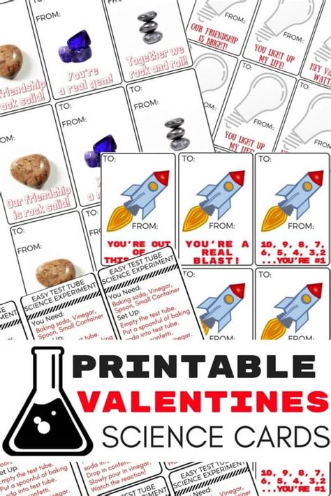 science themed valentines printable science valentines cards for s day