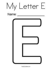 color that starts with an e my letter e coloring page twisty noodle