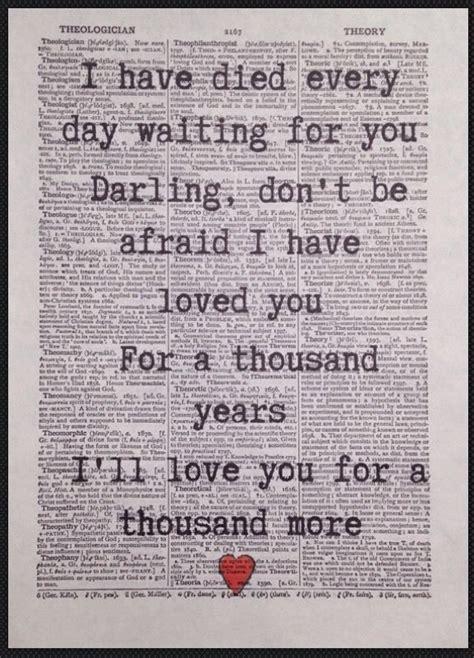 printable lyrics thousand years christina perri a thousand years christina perri print vintage