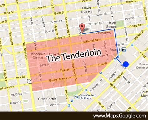 san francisco map areas to avoid san francisco tenderloin map michigan map