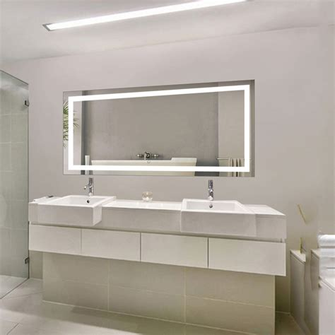 bathroom mirror defogger led bathroom mirror defogger dimmer horizontal 60