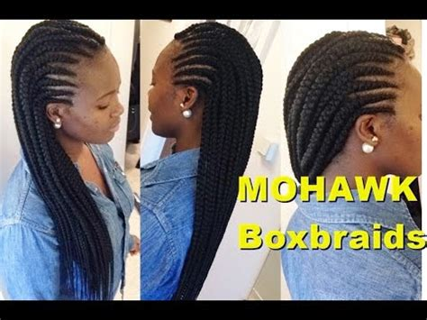 how to make big box braids | simple mohawk youtube