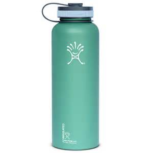 Flast 40 oz wide mouth vacuum insulated stainless steel water bottle