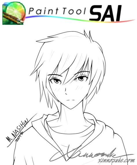 tutorial paint tool sai lineart