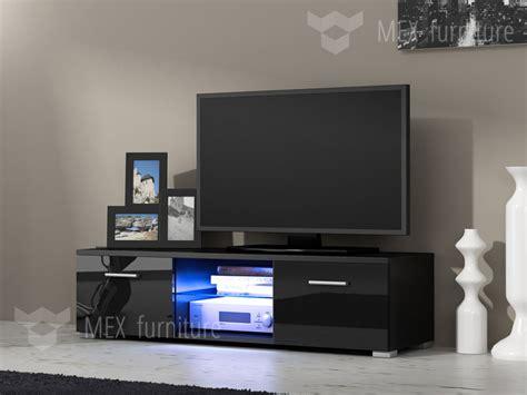 led tv furniture modern tv unit cabinet stand black matt and black high