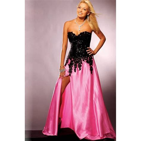Find Black Pink Black And White Homecoming Dresses Prom Dresses Cheap