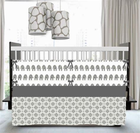 Gray Crib Skirt by Lavender And Gray Standard Crib Skirt Chevron Premier