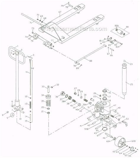 pallet parts diagram jet pt 3348j parts list and diagram 140033