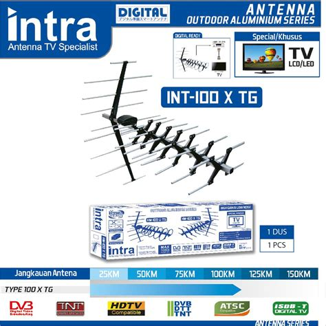 Antena Remote Intra antena tv outdoor digital intra int 100x tg elevenia