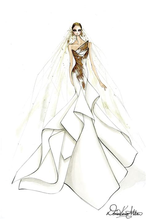 brautkleider zeichnungen the gaga wedding dress sketches that left the