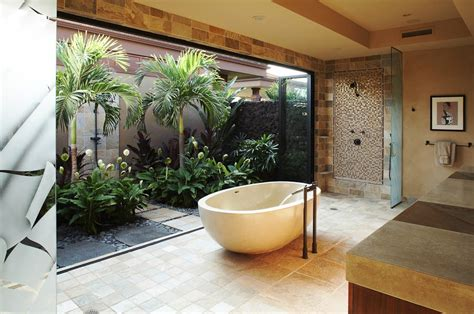 nature bathroom design sunlight streams into bathrooms connected to nature