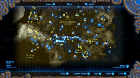all the important locations throughout the quest zelda breath of the wild guide a test of will shrine