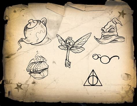 harry potter tattoo designs sorting hat ink