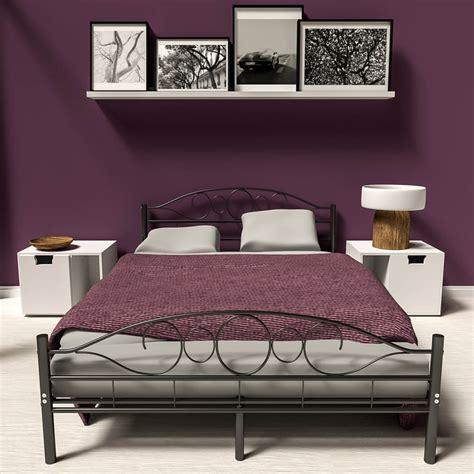 King Size Slatted Bed Frame Metal Bed Frame King Size Modern Bedroom Slatted Frame Ebay