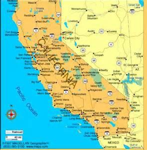 map of eastern california menu