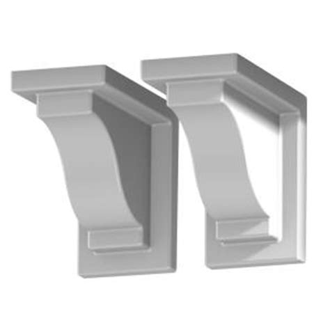 Vinyl Corbels Mayne White Vinyl Decorative Brackets 2 Pack