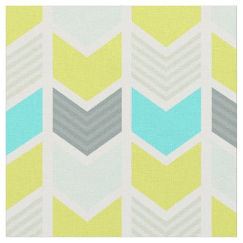 chevron pattern yellow and grey aqua blue yellow gray geometric chevron pattern fabric