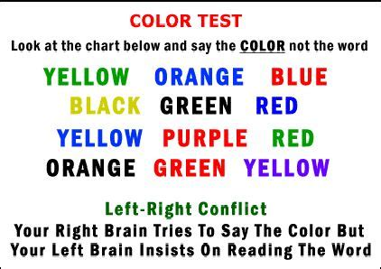 color word test brain teaser color test reflections of pop culture