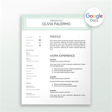 creative cv templates google docs 26 personal statement templates free pdf word sles