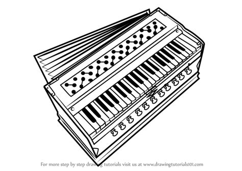 Drawing Of Harmonium learn how to draw harmonium musical instruments step by