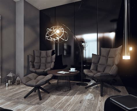 bachelor apartment design his and hers apartment interior design by alexeeva visualized