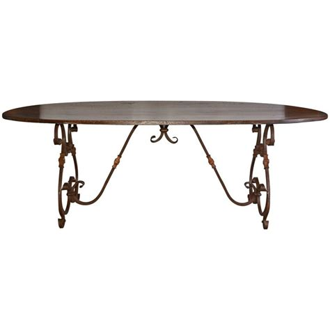 dining room table bases metal french inspired metal base oval dining table for sale at