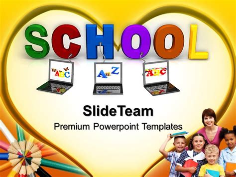 education theme pictures powerpoint templates education theme connected to school