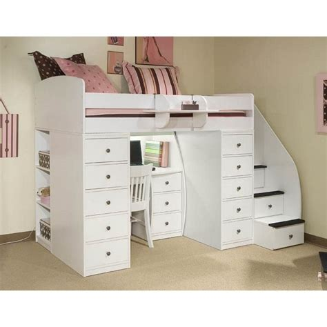 berg loft bed berg furniture sierra space saver twin loft bed with desk