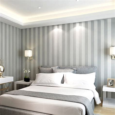 grey and white bedroom wallpaper online kaufen gro 223 handel grauen streifen tapeten aus china