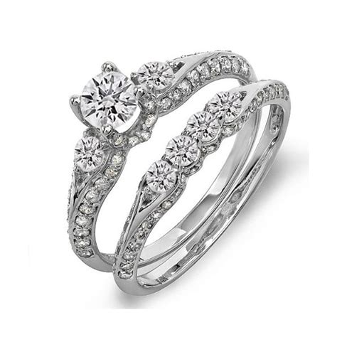 antique 1 50 carat wedding ring set for