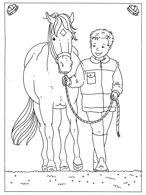 preschool coloring pages horses paard 01 23 png 2400 215 3200 thema paarden kleuters