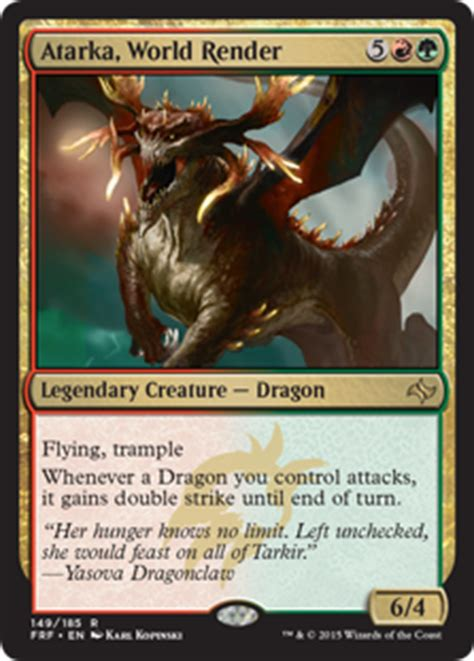 magic the gathering drachen deck atarka world render fate reforged gatherer magic