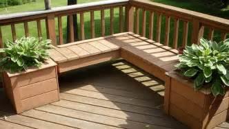Deck planter boxes bench plans home design ideas