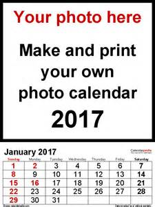 calendar photo template photo calendar 2017 free printable word templates