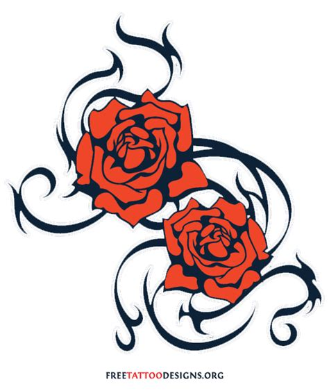 free rose tattoo designs 50 tattoos meaning