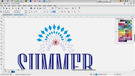 pattern corel draw x7 tutorial corel draw x7 how to make a simple poster youtube