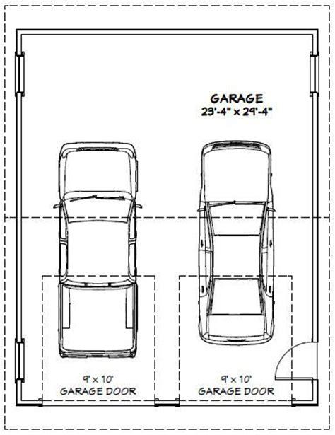 2 car garage sq ft 24x30 2 car garage pdf floor plan 720 sq ft new