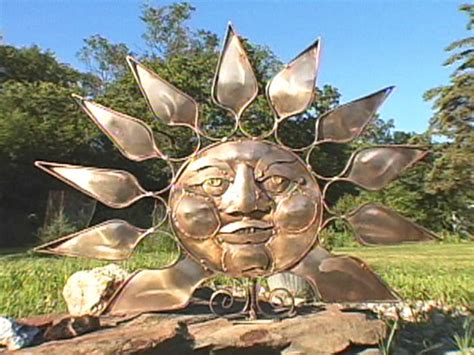 sun sculpture garden yard metal art sculpture ideas
