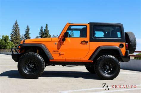 jeep wrangler orange lifted 2012 jeep wrangler sport 4x4 custom lifted jk hardtop