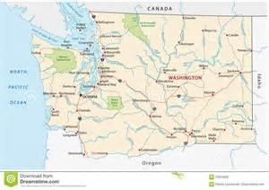 washington state road map stock illustration image 70223632