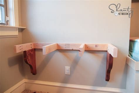 Wall To Wall Desk Diy Diy Corbel Desk For 85 Shanty 2 Chic