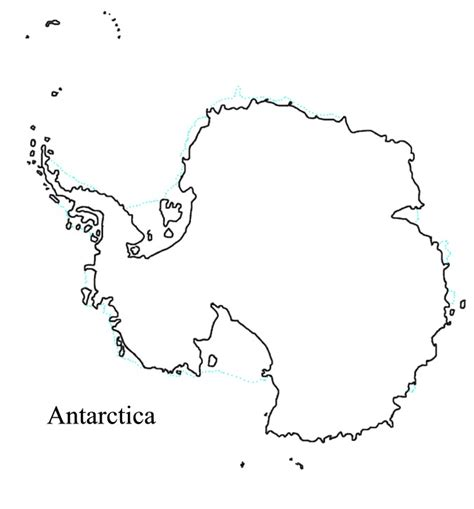 antarctica map for kids printable coloring page