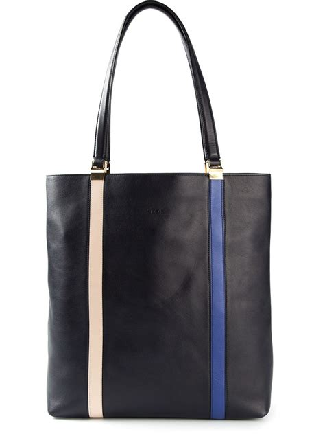 Tods Shopping Tote New Hitam tod s medium shopping tote bag in black lyst