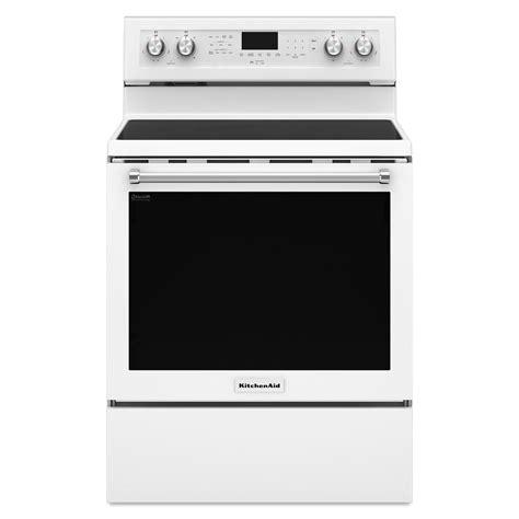 Kitchenaid Electric Appliances Kitchenaid Kfeg500ewh 6 4 Cu Ft Freestanding Electric